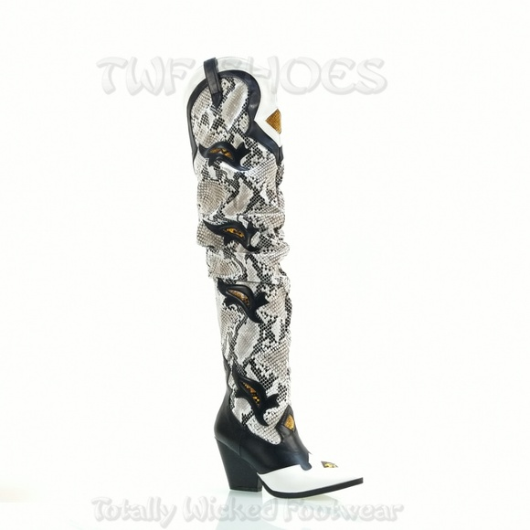Thigh High Slouch Cowboy Boot